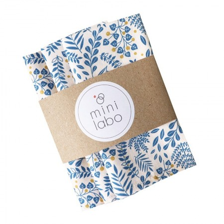 Pack of 3 washable cotton handkerchiefs with Buisson design