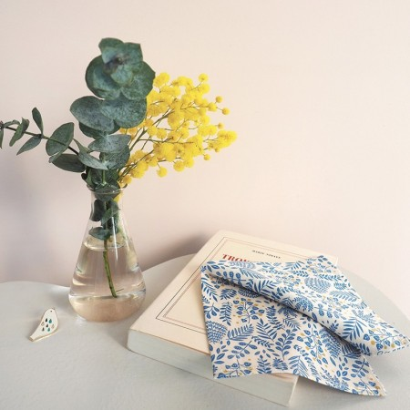 Washable cotton handkerchief with Buisson design