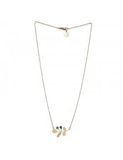 Nina necklace green and Navy