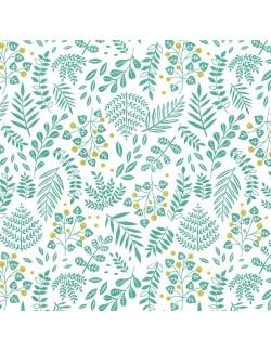 Papier japonais à la feuille motif Buisson Green