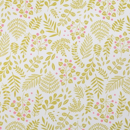 Japanese paper with Gold bush pattern sheet