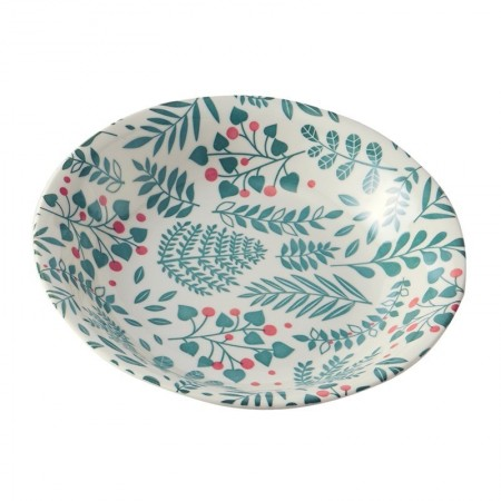 Porcelain plate with bush pattern