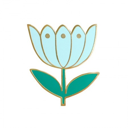 Tulip Azur Pin's