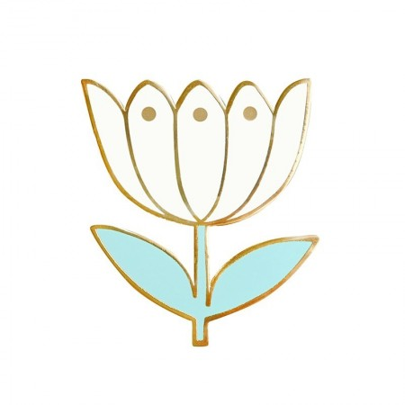 Pin's Tulipe Blanche