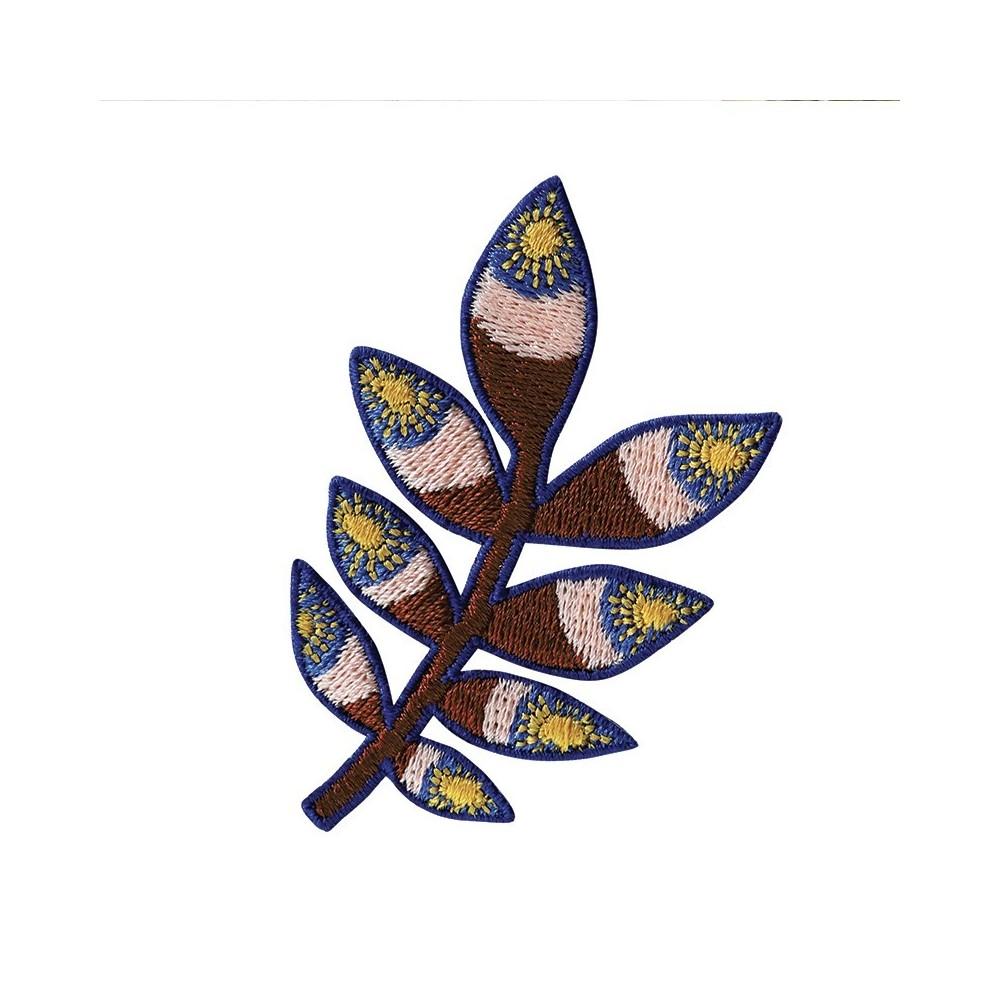 Patch brodé thermocollant motif Tropic Brun