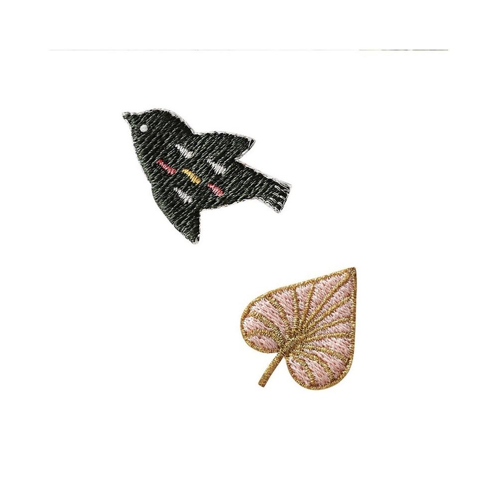 Patch brodé thermocollant motif Oiseau Kaki