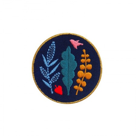 Embroidered iron-on patch with Bouquet Badge