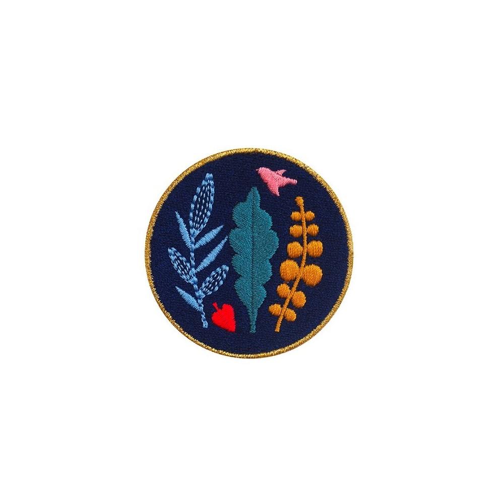 Patch brodé thermocollant Badge Bouquet