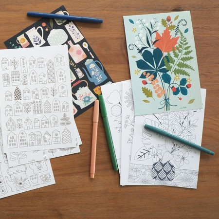 4 illustrations to color Collections