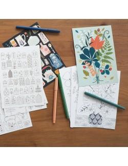 4 illustrations à colorier Collections