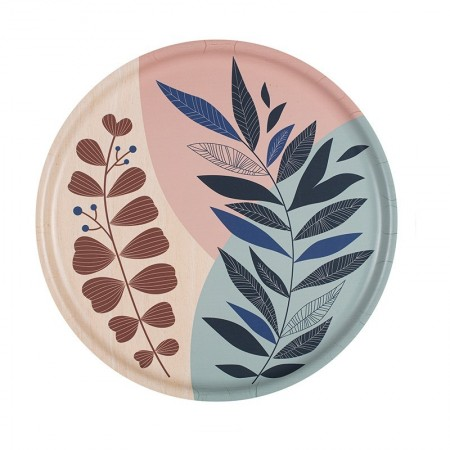 Blue Branches round Tray - 35 cm -