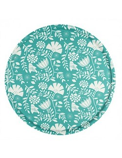 Plateau rond en bouleau motif Indian Mood - 45cm -