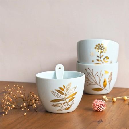 Porcelain bowl Indian Flower