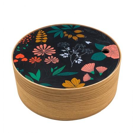 Round oak box Herbarium size M