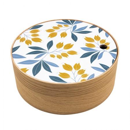 Round oak box Campanula size M