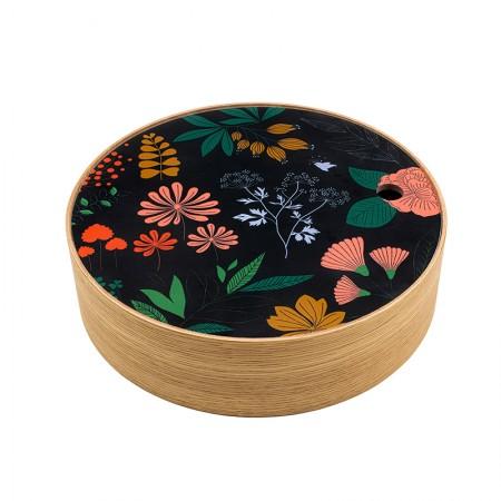 Round oak box Herbarium size S