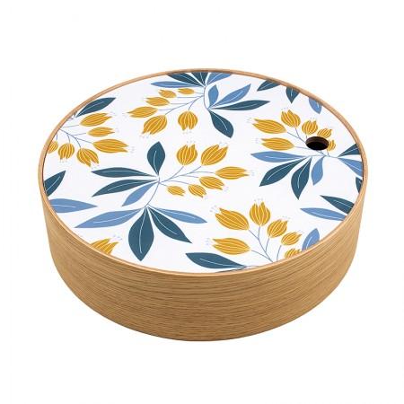 Round oak box Campanula size S