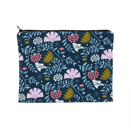 Clutch bag with Indian bird motif