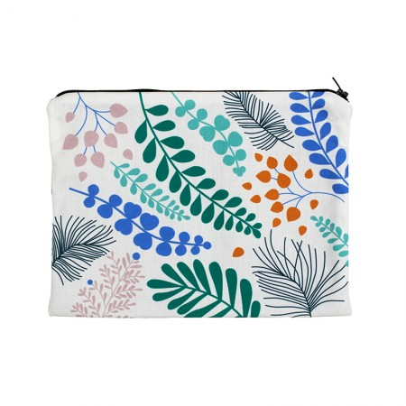 Clutch bag with Blossom ecru motif