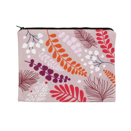 Clutch bag with powder blossom motif