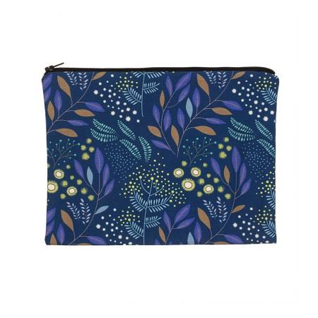 Pochette motif Mimosa marine