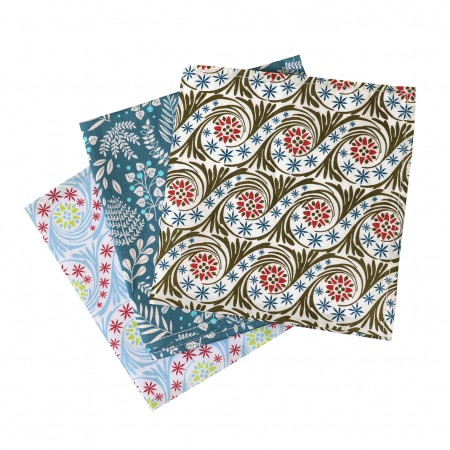 Pack of 3 washable cotton handkerchiefs mix Liberty
