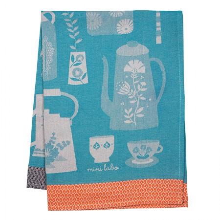Doll's tea set tea towel