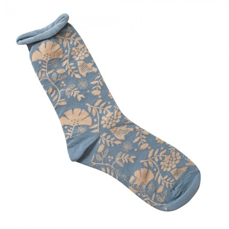 Jacquard socks with Indian Bird Pattern