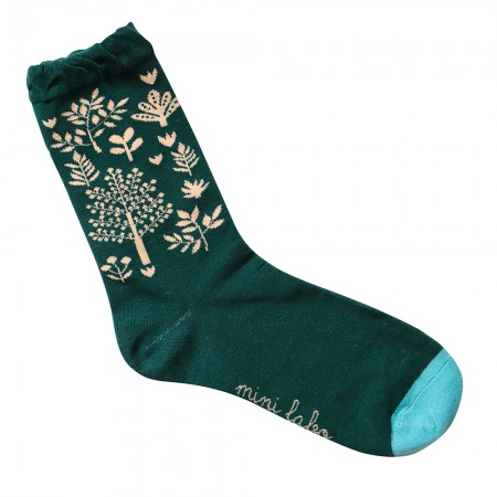 Jacquard socks with Forest Pattern