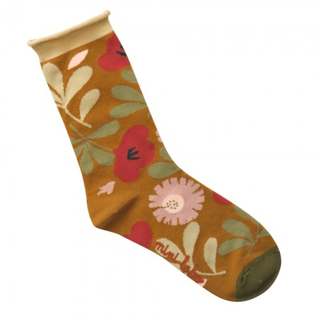 Jacquard socks with Flower fields Pattern