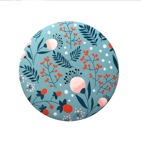 Miroir rond de poche motif Susan blue