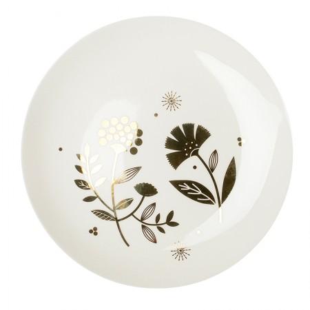 Assiette en porcelaine Oeillet