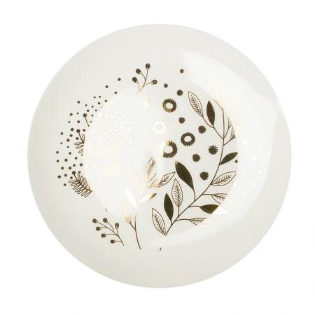 Assiette en porcelaine Mimosa