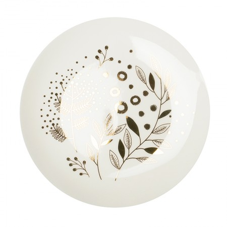 Mimosa porcelain plate