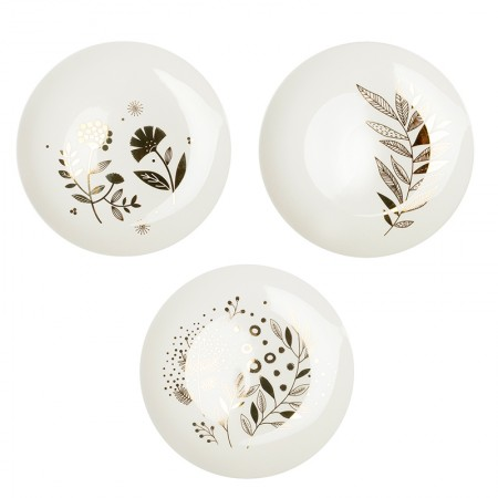 Lot de 3 Assiettes en porcelaine