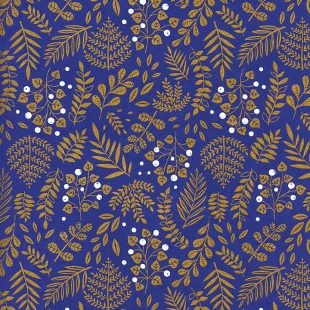 Papier japonais à la feuille motif Buisson moonlight