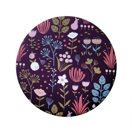 Miroir rond de poche motif Jardin partagé