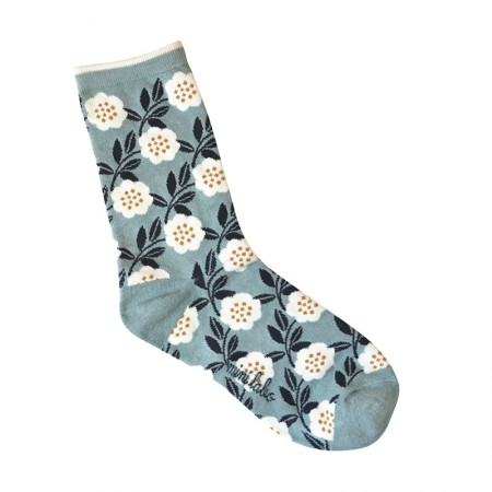 Jacquard socks with Camelia Pattern