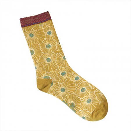 Jacquard socks with Anemone Pattern