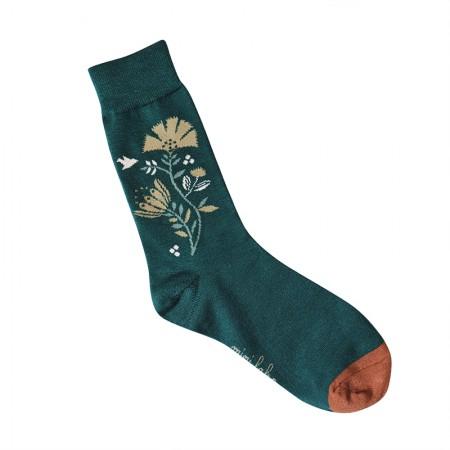 Jacquard socks with Idian Green Pattern