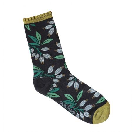 Jacquard socks with Campanules Pattern