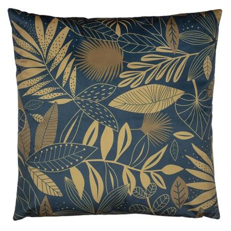 Leaf velvet cushion